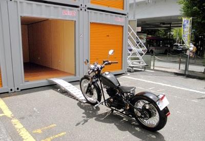 ハローストレージ北千住 バイク収納も可能